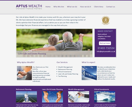 professional IFA website design Refined Advice