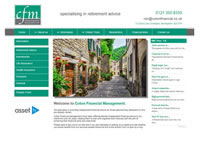 IFA Website designed for Coton Financial