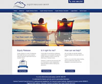 Equity Release Website Design, showing Equity Release Schemes, Lifetime Mortgaages, reversion Schemes and Equity Release Calulator