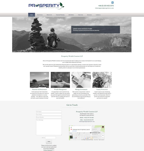 Responsive Design A Financial Planner Site