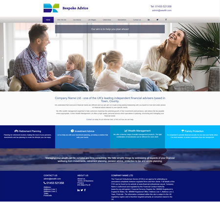 IFA website template : design 4