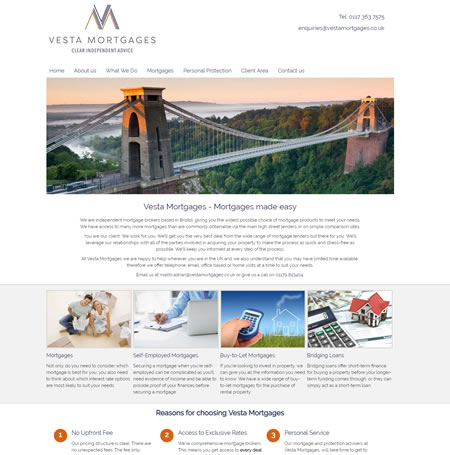 IFA Web Design Vesta Mortgages